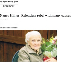 Nancy Hillier: Relentless rebel with many causes